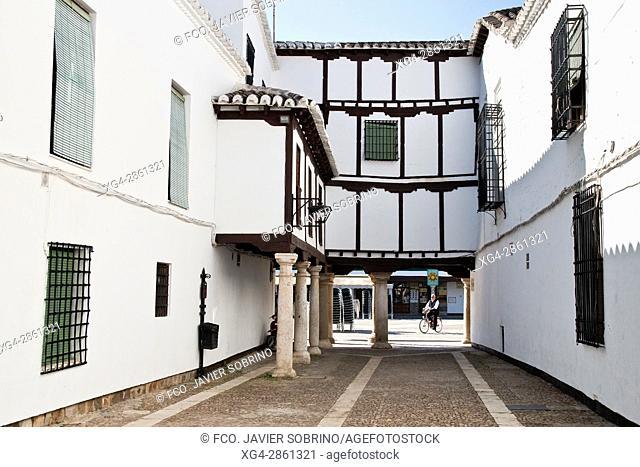 Rincón junto a la Plaza Mayor, en el que se sitúa el Museo Del Encaje - Almagro - Ciudad Real - Castilla La Mancha - España - Europa