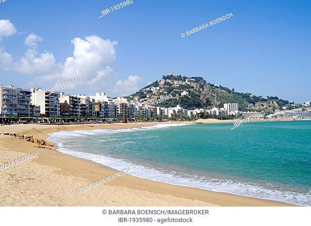 Beach, coastal village Blanes, Costa Blanca, Catalonia, Spain, Europe