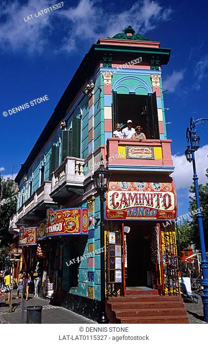 La Boca is a barrio in Buenos Aires the capital of Argentina. It is well known for its colourful buildings and is a popular tourist destination