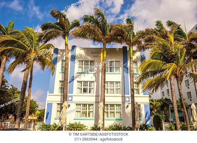 apartments, South Beach, Ocean Drive,Miami, Florida, USA