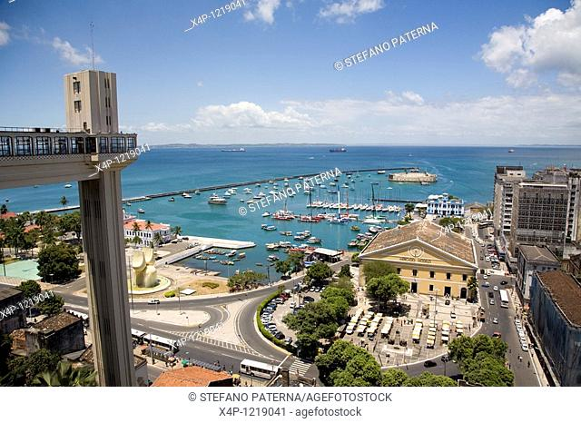 The Elevator built in Art Deco is called Elevador Lacerda. It conects the upper with the lower town. Salvador, Brazil