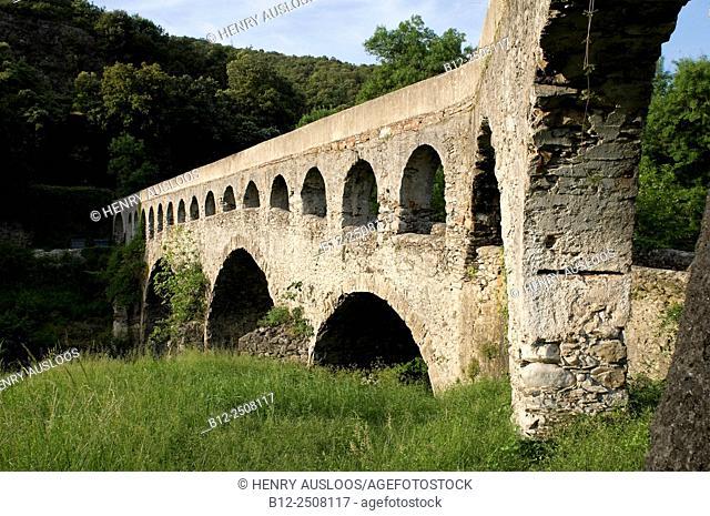 Bridge over the river Arre, Le Vigan, Gard, Cévennes, France