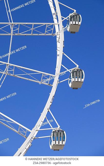 Giant ferris wheel in Malaga, Spain, Europe