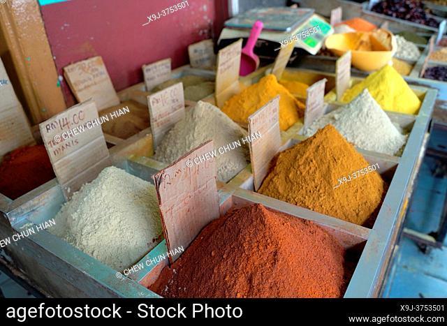 Spice shop in Old town, Kuching, Sarawak, Malaysia, Asia