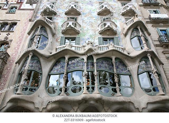 Antonio Gaudi designed Casa Batllo, Barcelona, Spain