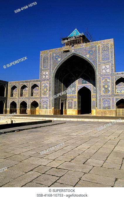 Iran, Esfahan, Eman Khomeni Square, Imam Masjed-E Emam Mosque, Madresseh, Tilework