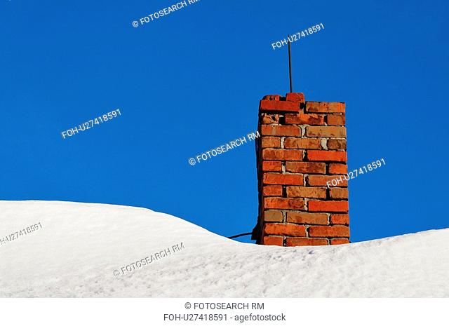 winter this image concept shot brick chimney in