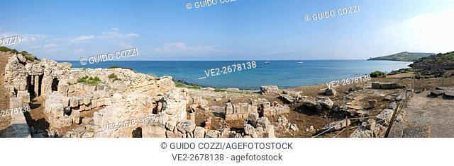 Ruins of Tharros, Sinis Peninsula, Cabras, Sardegna (Sardinia), Italy