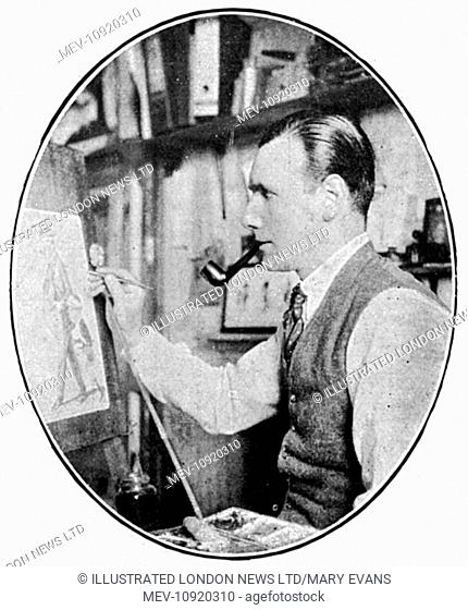 Mr P. R. G. Buchanan, whose caricatures, mainly of horse racing society, under the pseudonym 'The Tout' were published in The Tatler and The Bystander magazines...