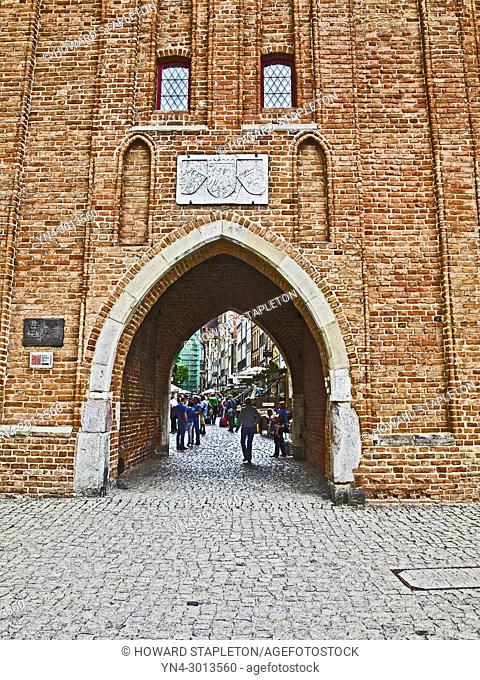 Archway in old town Gdansk, Poland