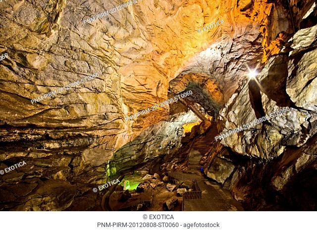 Interiors of a cave, Borra Caves, Ananthagiri Hills, Araku Valley, Visakhapatnam, Andhra Pradesh, India