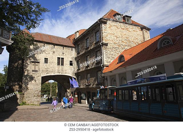 View to the Great Coastal Gate and The Estonian Maritime Museum in the old town of Tallinn, Estonia, Baltic State, Europe
