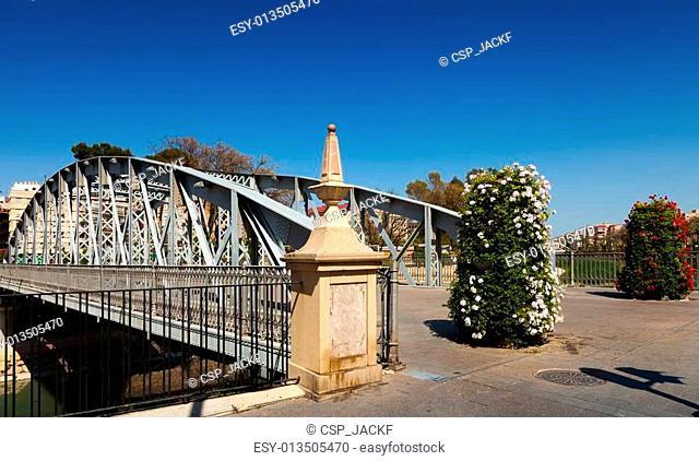 Puente Nuevo in sunny day. Murcia