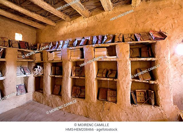 Mauritania, Adrar, Chinguetti, listed as World Heritage by UNESCO, Ahel Ahmed Wanane library