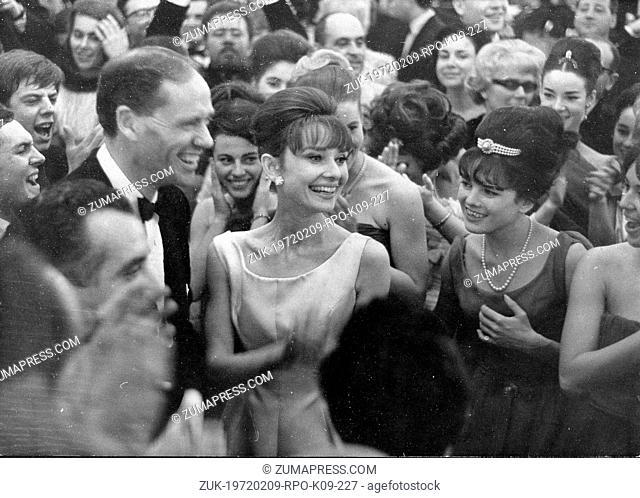 Jan 14, 1962 - Paris, France - Actress AUDREY HEPBURN and husband MEL FERRER enjoy themselves dancing at a party aboard the oceanliner S.S. France