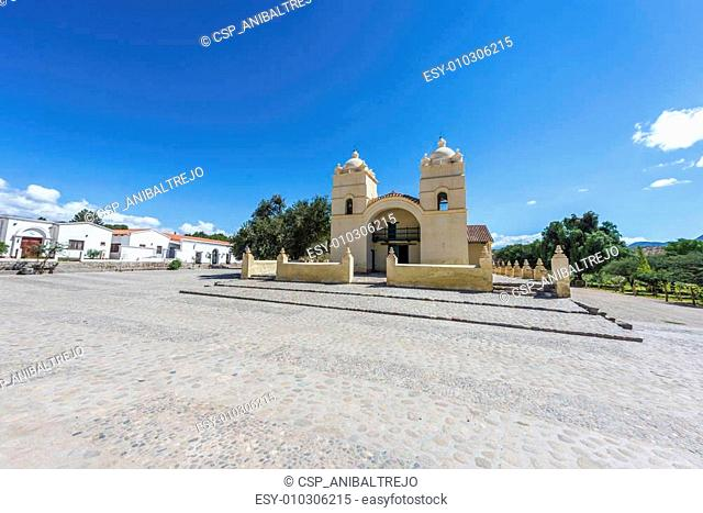 Molinos church on Route 40 in Salta, Argentina