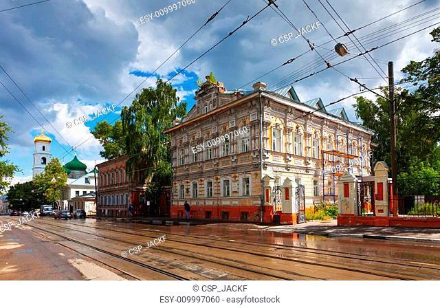 Old street in Nizhny Novgorod