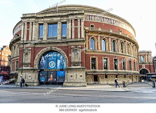 Royal Albert Concert Hall in the Kensington Section of London, England, UK