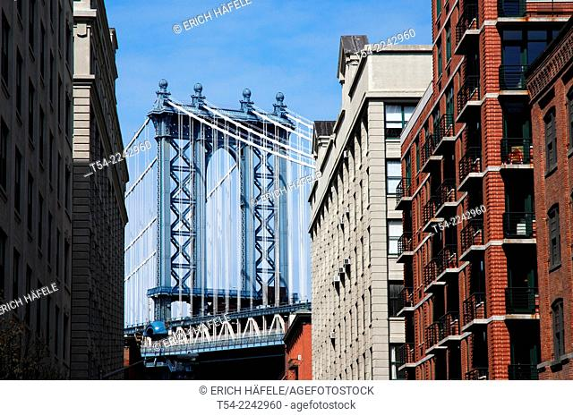 The Manhattan Bridge in New York