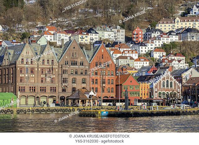 Bergen, Bryggen, Hordaland, Norway, Scandinavia, Europe