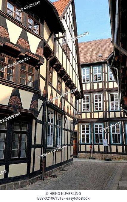 Fachwerkhäuser in der Altstadt von Quedlinburg