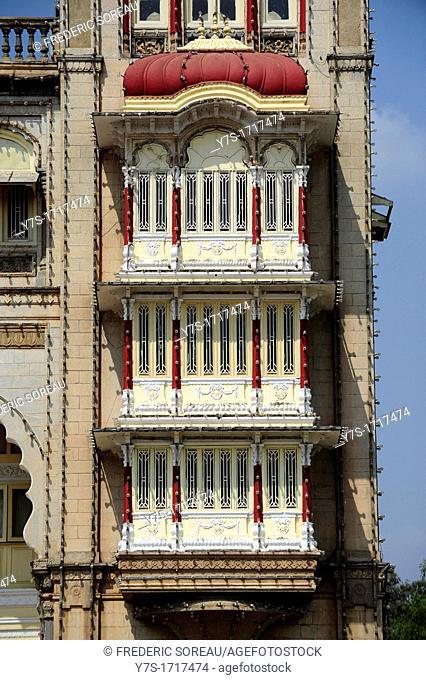 The Palace of Mysore, State of Karnataka, South India, India, Asia