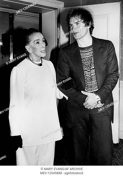 Martha Graham & Rudolf Nureyev Choreographer & Ballet Dancer 01 May 1968