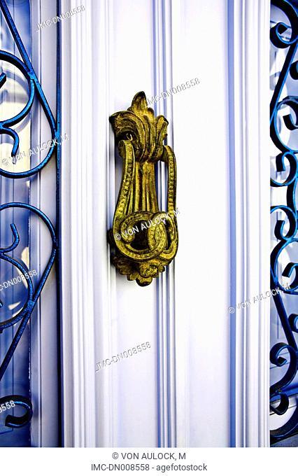 Greece, Dodecanese, Patmos, door handle