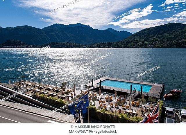 pool on como lake, grand hotel tremezzo, tremezzo, italy