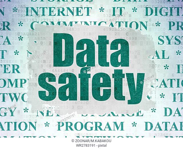 Data concept: Data Safety on Digital Data Paper background