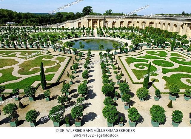 Orangery on the south side, Palace of Versailles, UNESCO World Heritage Site, Département Yvelines, Region Ile-de-France, France