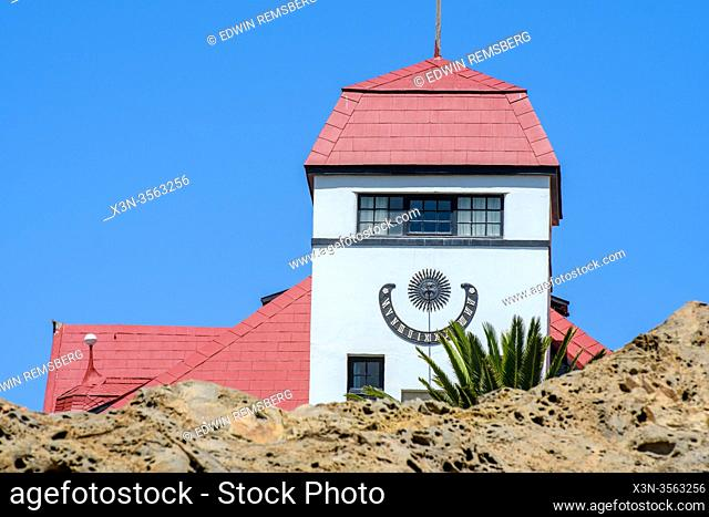 Sun Clock in Luderitz, Namibia