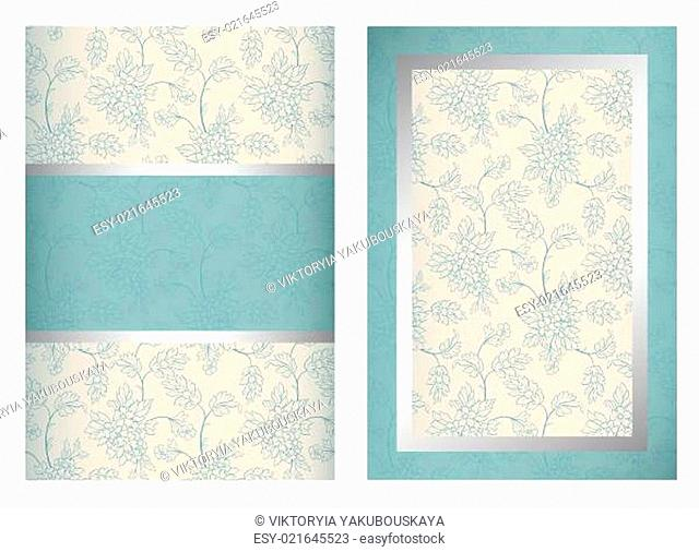 Invitation card front and back sides