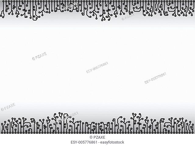Abstract background - electronic monochrome elements