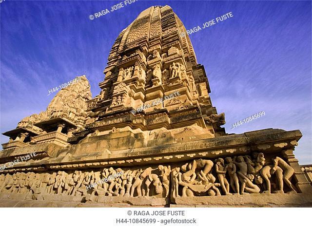 India, Khajuraho city, Madhya Pradesh, UNESCO, World heritage site, Lakshmana Temple, Asia, travel, January 2008, cult