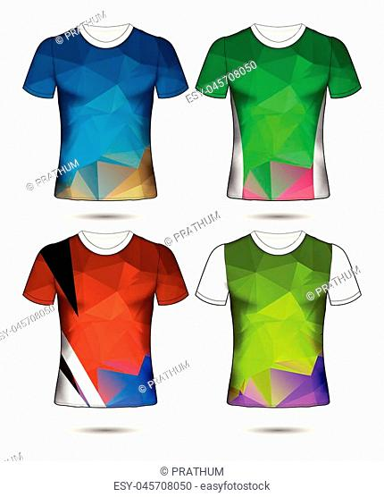 shirt, t, template, back, vector, front, design, white, t-shirt, fashion, clothing, clothes, illustration, top, blank, side, textile, sleeve, view, black