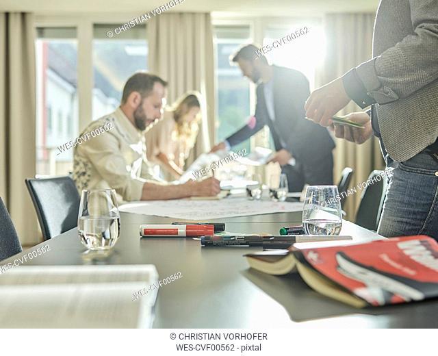 Business people having a workshop