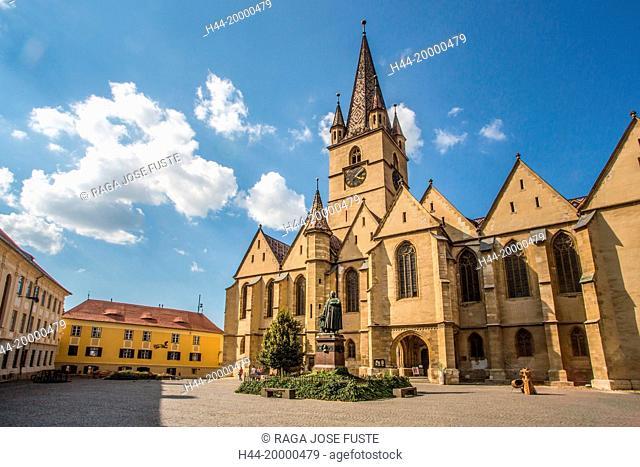 Romania, Sibiu City, Evangelical Cathedral of Sebiu, Teutsch Monument