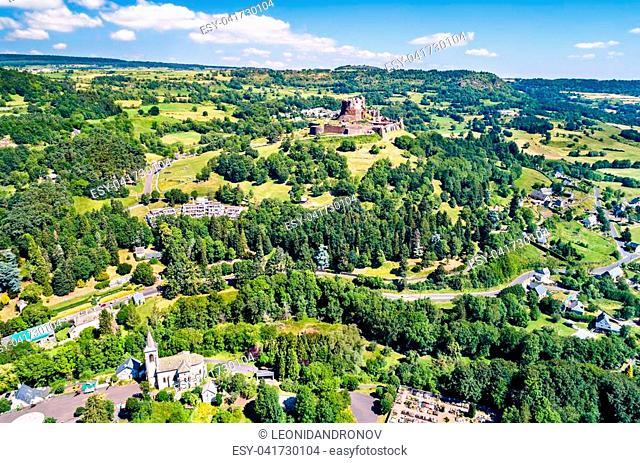 The Chateau de Murol, a medieval castle in the Puy-de-Dome department of France