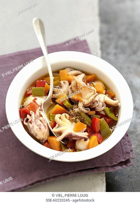 Greek-style octopus salad