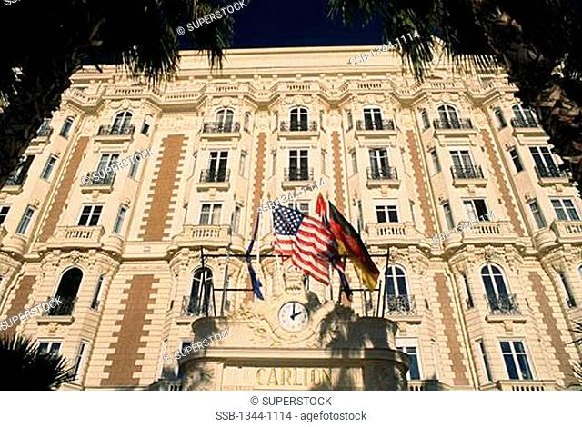 Low angle view of a hotel, Carlton Hotel, Cannes, France