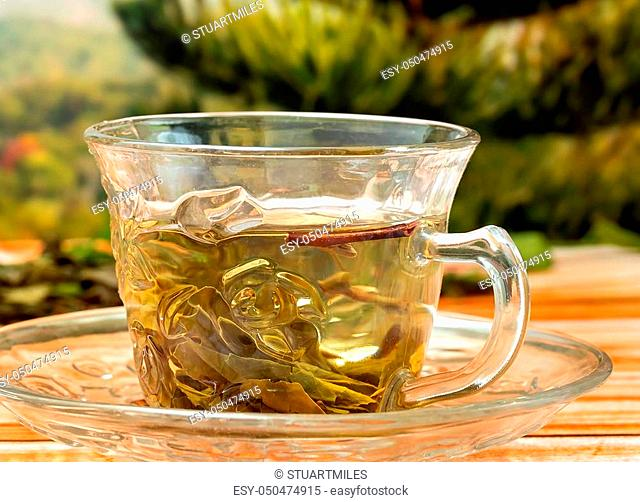 Chinese Tea Drink Representing Refresh Refreshing And Thirsty