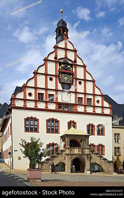 Town hall at the Altmarkt in Plauen, Vogtland, Saxony, Germany