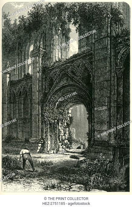 'Glastonbury Abbey', c1870