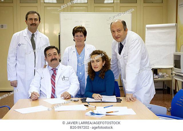 Staff meeting. Hospital de Zumarraga, Gipuzkoa, Euskadi, Spain
