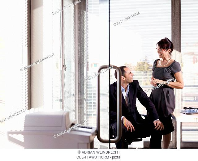 Portrait of business man and woman