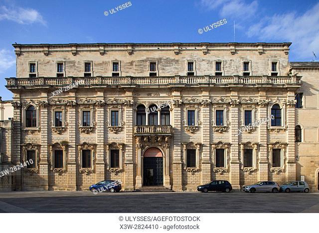 Palazzo del Seminario, Museo Diocesano, Duomo square, Lecce, Puglia, Italy, Europe