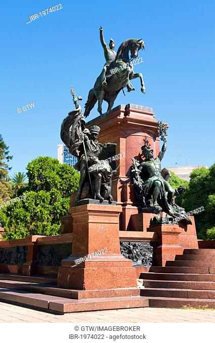 Plaza San Martin, General San Martin monument, Buenos Aires, Argentina, South America