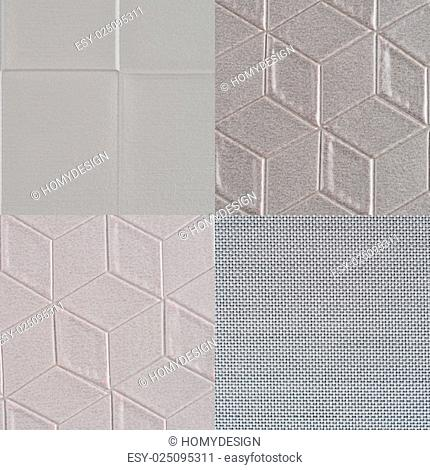 Set of grey vinyl samples, texture background