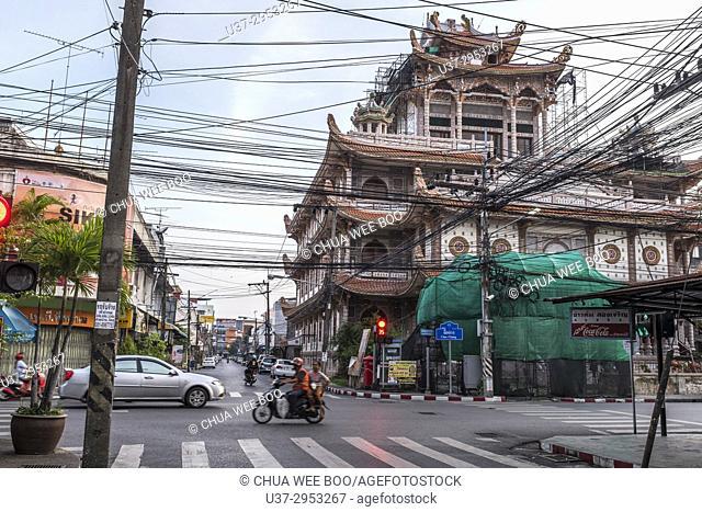 Chinese temple in Nora Market, Hatyai, Thailand